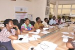 National Grandmother Advocacy Champions in an Advocacy meeting with the senior management team of Uganda Aids Commission(UAC)
